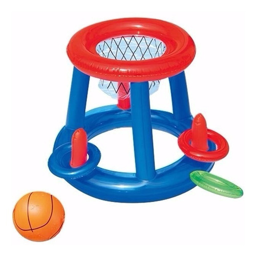 Juego Inflable Pileta Baloncesto Basket Basketball Env 52190