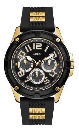 Reloj Para Caballero Guess Delta Gw0051g2 Negro / Dorado