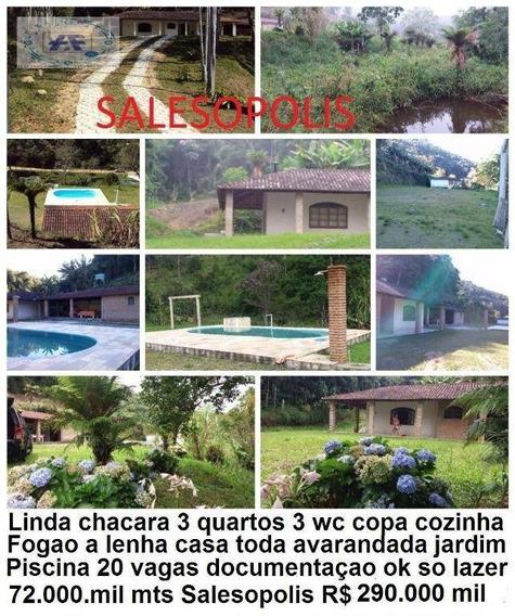 Chácara Residencial À Venda, Serrote, Salesópolis. - Ch0005