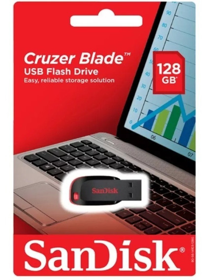Pendrive Sandisk Cruzer Blade De 128gb