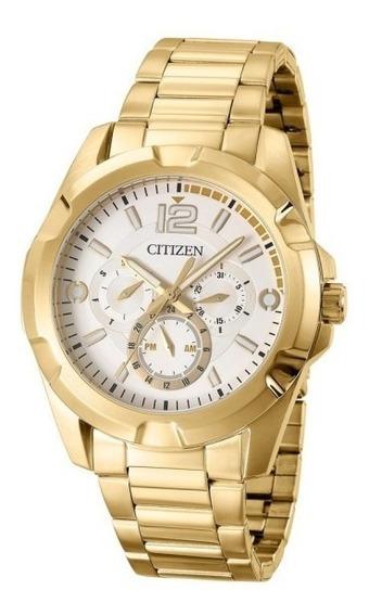 Relógio Citizen Masculino Dourado Tz20322h Cronógrafo