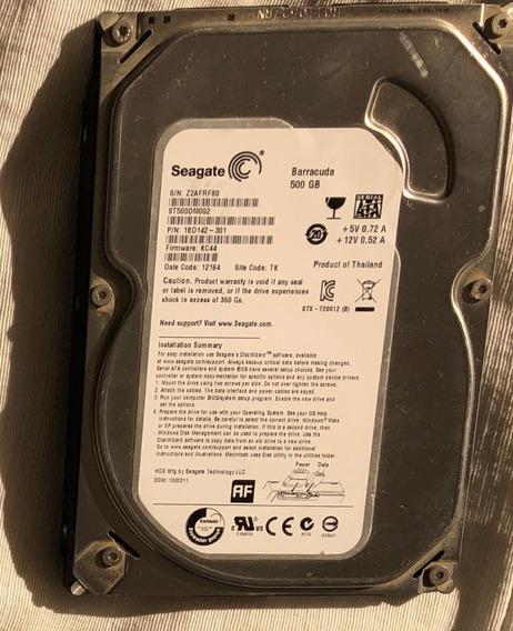 Disco Rígido Seagate Barracuda 500gb 7200r Excelente Estado!