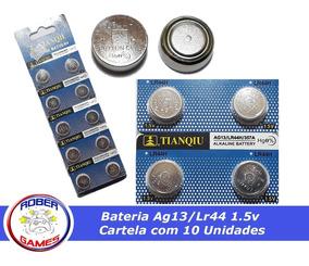 Bateria Alkaline Ag13 / Lr44h / 357a ( Kit 2 Cartelas )