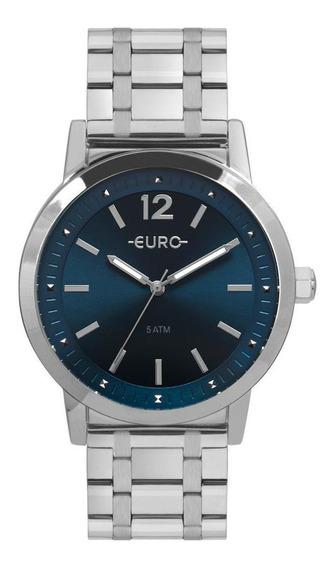 Relógio Euro Boyfriend Feminino Prata - Eu2035yrp/3a