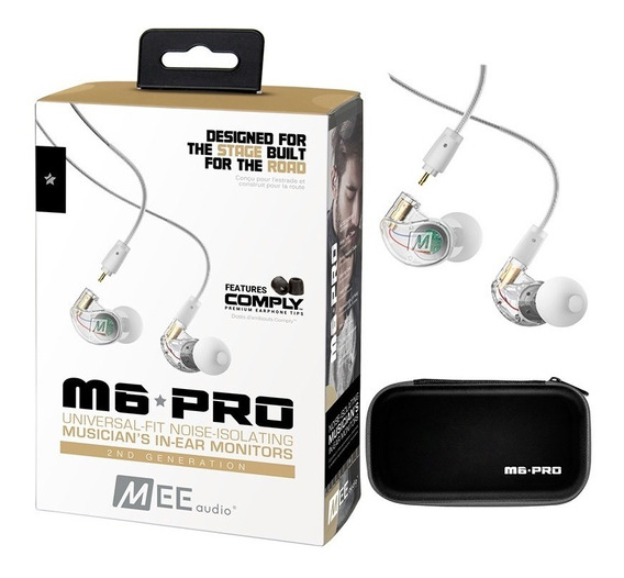 M6 Pro Mee Segunda Geração Fone De Ouvido In-ear | Original