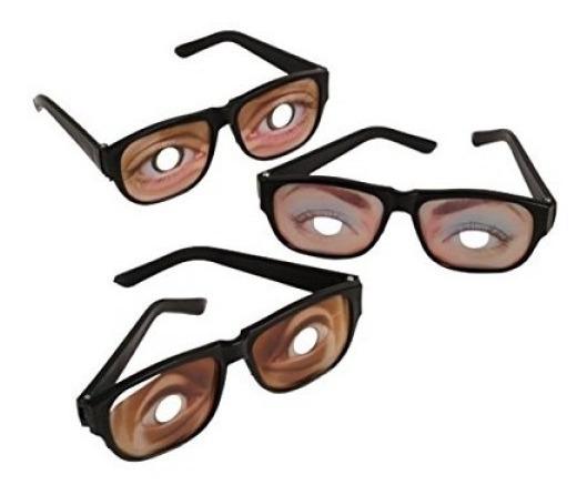 Ojos Divertidos Gafas De Disfraz (1 Docena)