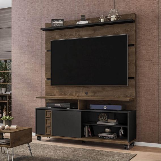 Estante Home Para Tv Até 52 Polegadas Com Rodízios Di