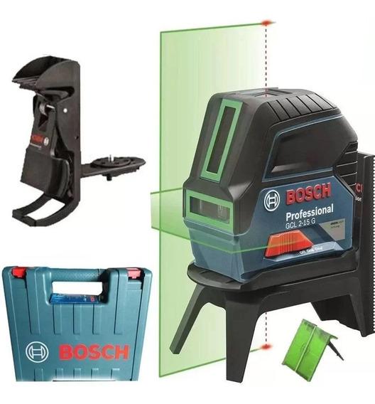 Nível A Laser Linha E Ponto Gcl 2-15 G Potencia Verde Bosch