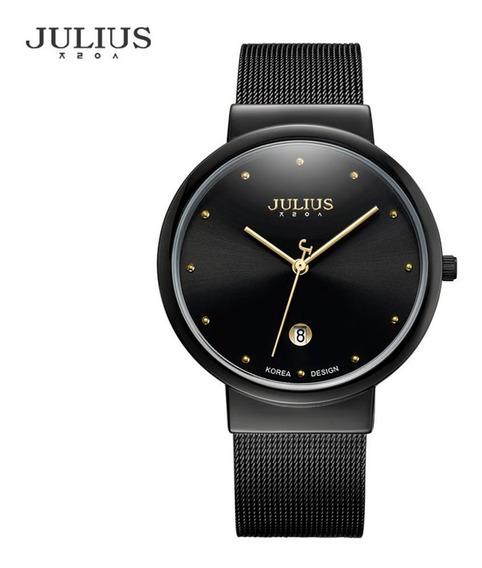 Julius Ja-426 Relógio De Quartzo Relógio De Aço Inoxidável M