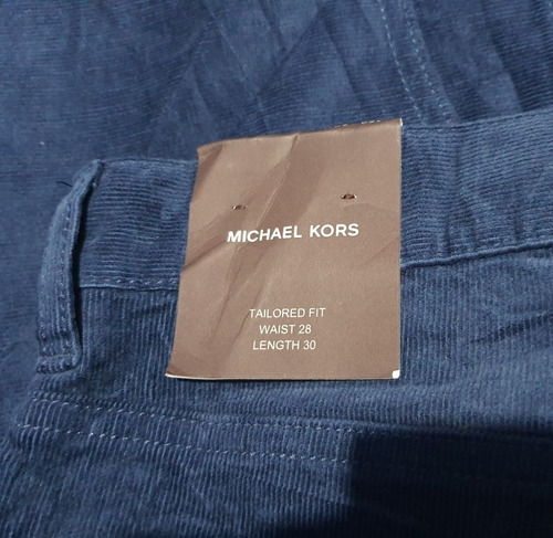 Pantalon Michael Kors Hombre 28 X 30 Azul Tailored Fit Mercado Libre