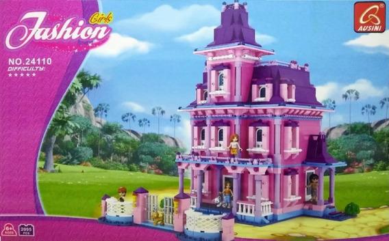 Blocos Montar Casa Bonecas Barbie Castelo 2095 Pçs Lego