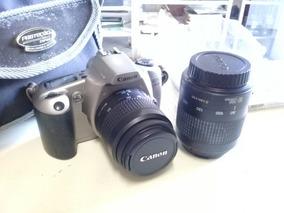Máquina Fotográfica Canon, Com Duas Lentes E Bolsa