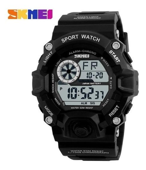 Relógio Masculino Militar Skmei 1019 Promo Mês Das Crianças
