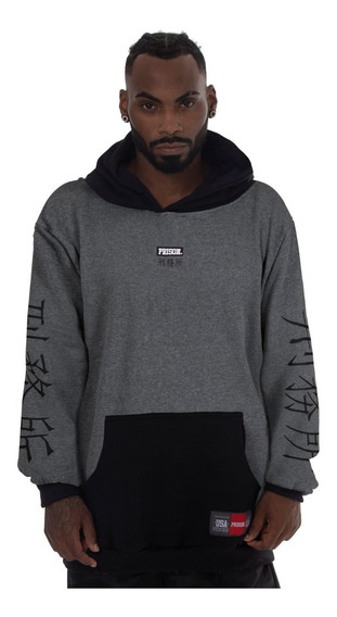 Moletom Prison Streetwear Cinza Chinatown