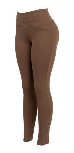 Imagen 1 de 6 de Pantalon De Vestir Entallado, Grueso, Tiro Alto, Leggin.