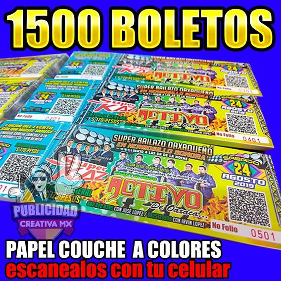 1500 Boletos A Colores Para Bailes Y Rifas (envío Gratis)