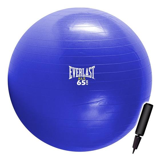 Pelota De Pilates Everlast 65cm Fitness Yoga + Inflador