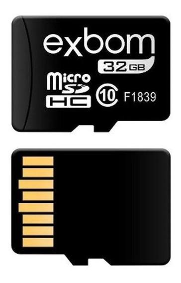 Cartão De Memória Micro Sd 32gb Cameras Games Musicas Fotos