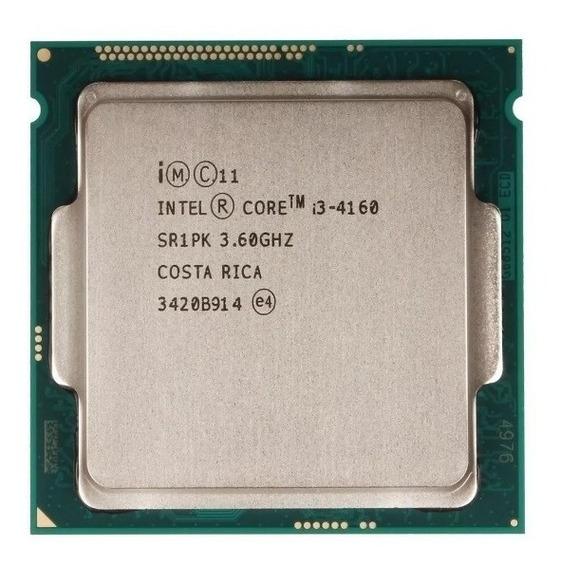 Core I3 4160 Lga 1150 3.60 Ghz 3mb Cache Testado E Garantia!