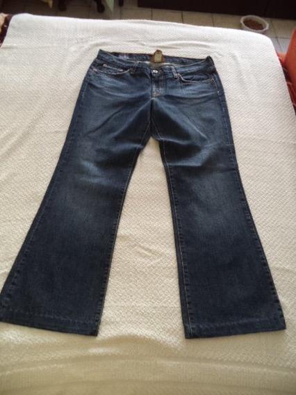 Pantalon D Mezclilla Jeans Lucky Brand Azul Strech Dama 10