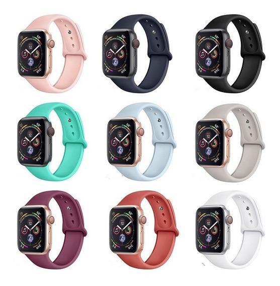 3 X Pulseiras Silicone Relógio Apple Iwatch (38/40/42/44mm)