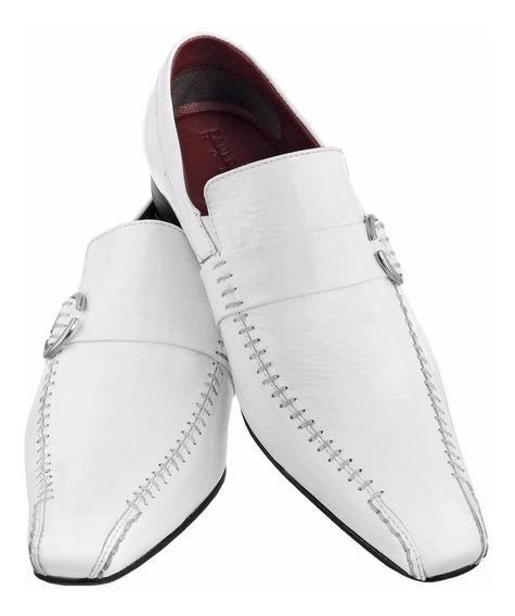 Sapato Masculino Social Bico Longo Stilo Italiano Couro 423