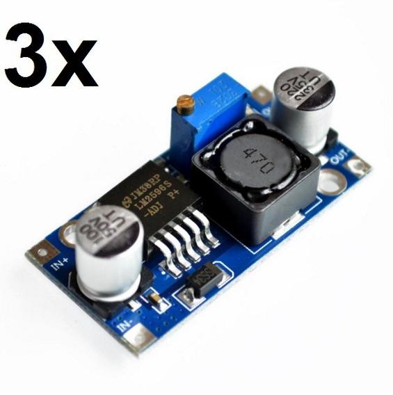 3x Regulador De Tensão Lm2596 Conversor Dc-dc Step Down