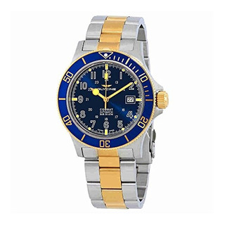 Reloj Glycine Combat Sub Blue Dial Bicolor Para Hombre Gl008