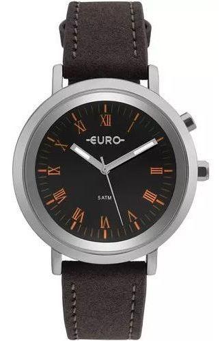 Relógio Euro Neon Lights Couro / Prata Feminino Eu2036yma/2p