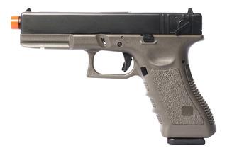Pistola Airsoft Green Gas Army R18 Glock G18 Blowback Od