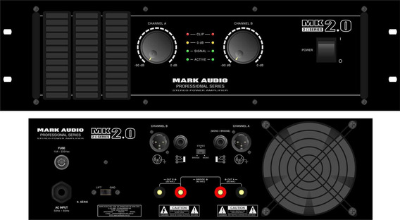 Amplif.markaudio De Potencia Mk 2.0/b