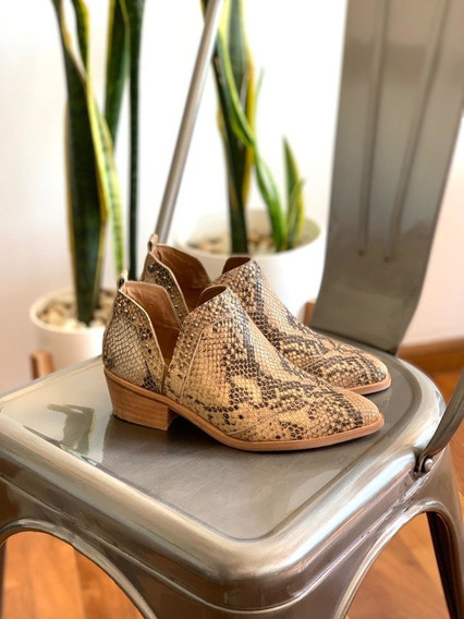Botitas Mujer Texanas Cuero Rio Reptil Invierno 2019