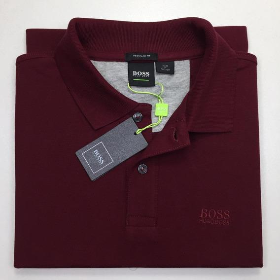 Camiseta Polo Marca Hugo Boss Talla L Color Rojo Tinto