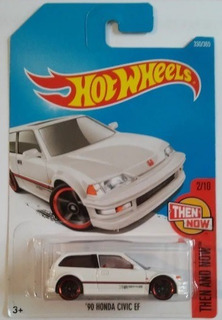 Miniatura Hot Wheels 90 Honda Civic Ef - Then And Now !!!