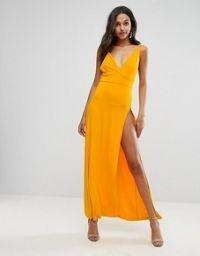 Asos Vestido Importado Amarillo, Talle Small