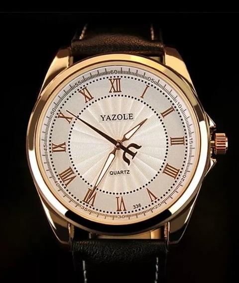 Relógio De Pulso Masculino Yazole Quartz Social Luxo Barato