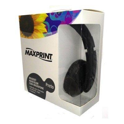 Fone De Ouvido Headset Maxcolor Com Microfone - Preto