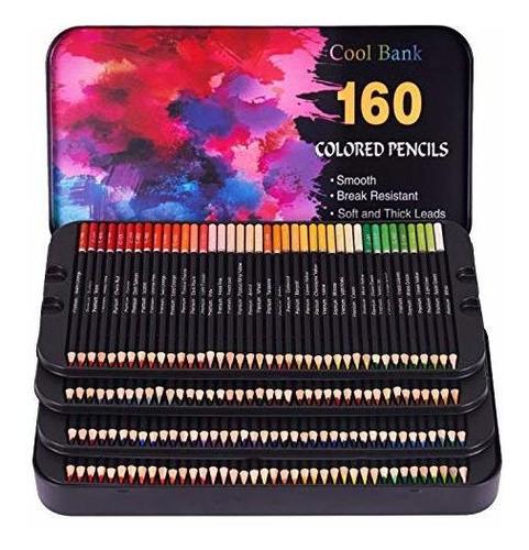 160 Lapices De Colores Profesionales, Lapices De Artista Par