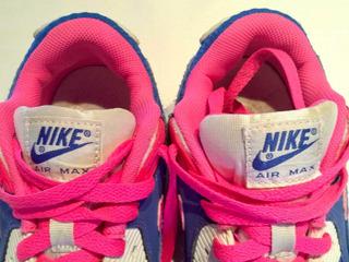 Zapatillas Nike Air Max Niña 35 Azul / Fucsia
