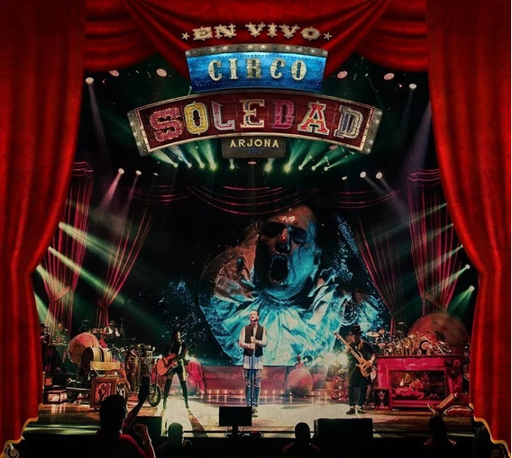 Ricardo Arjona Circo Soledad En Vivo 2 Cd + Dvd Disponible