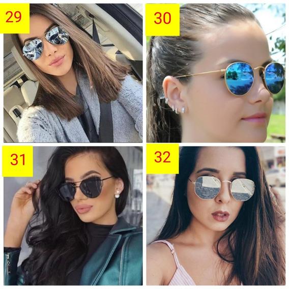 Kit 2 Óculos Colorido Da Moda Estiloso Feminino De Sol Lindo
