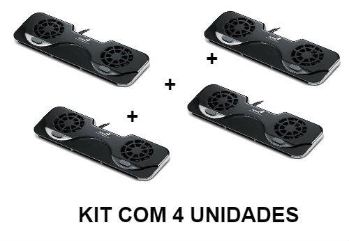 Kit 4 Unid Base Ventilada Notebook 10 A 17 Polegadas Genius