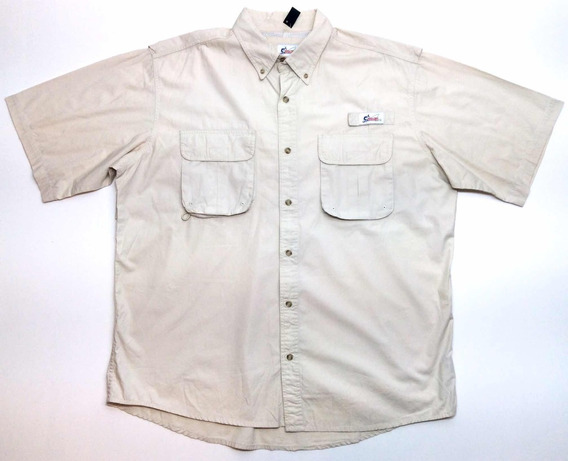Camisa Manga Corta Pesca Caza Algodón Usa Hombre Talle Xl