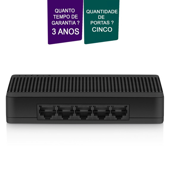 Switch Ethernet Multilaser 5 Portas De 10/100mbps Garantia.