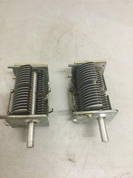 2 Capacitor Variavel Para Radio Antigos Ou Montar Aclopador