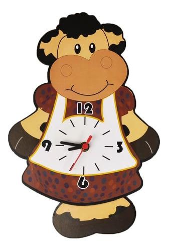 Imagem 1 de 6 de Relógio Parede Pêndulo Vaca Cozinha Vaquinha