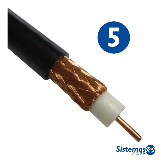 5 Metros Cable Coaxial Rg6 Cctv Directv Inter