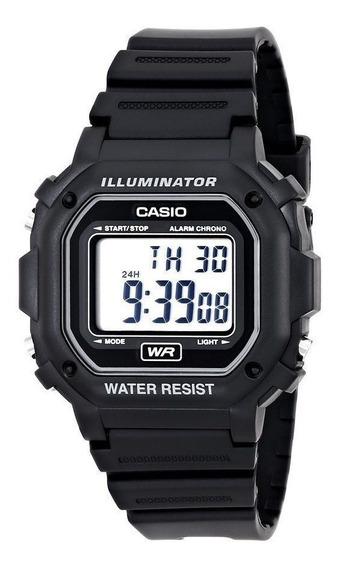 Relógio Casio Illuminator F108wh-1a Preto Original