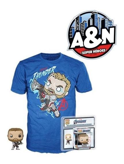 Funko Pop Tees Camiseta Thor Avengers End Game Con Llavero