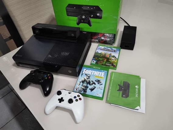 Xbox One 500g Kinect Dois Controles Com Detalhes Leia